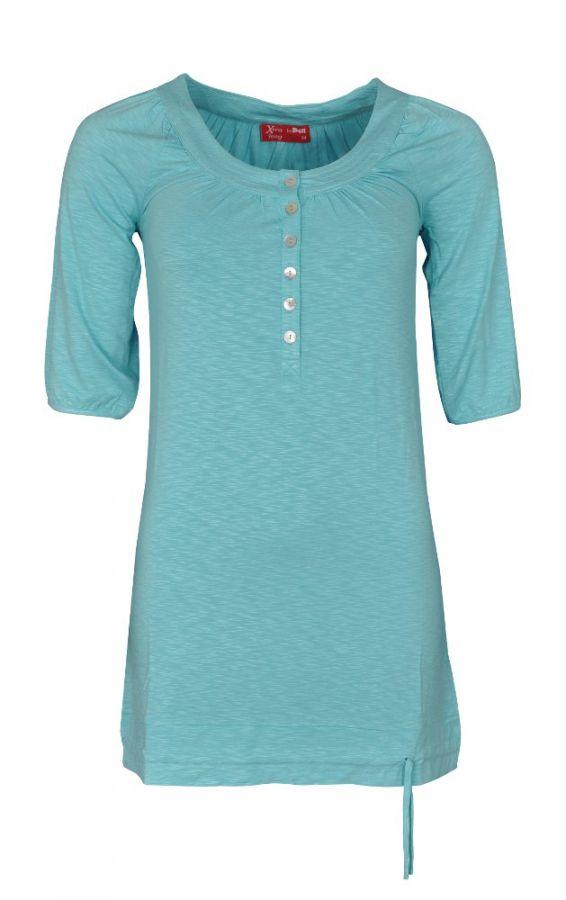 Flammgarn-Shirt in aqua