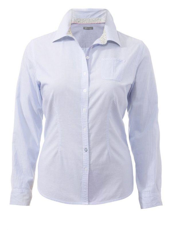 b² Hemdkragen-Bluse