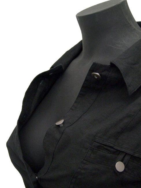 Leinen-Blusenjacke
