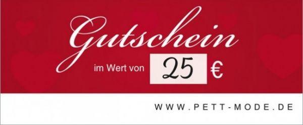 Pett-Gutschein 25€