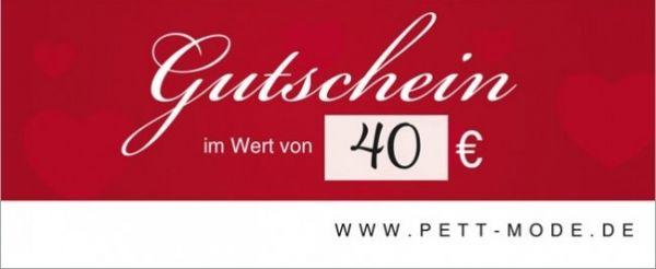 Pett-Gutschein 40€