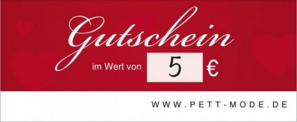 Pett-Gutschein 5€